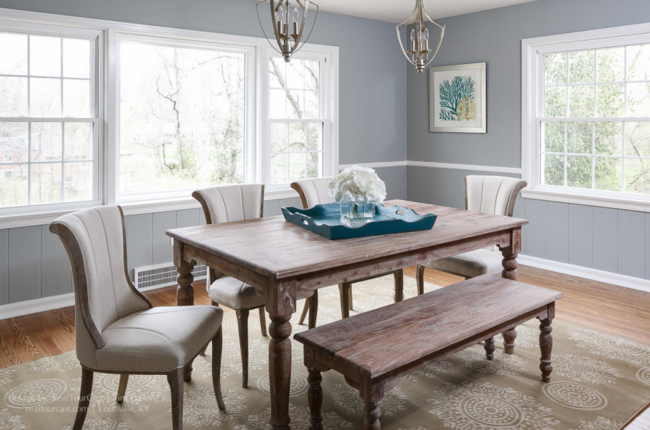 This lovely and simple dining room was a real plus for Jenny